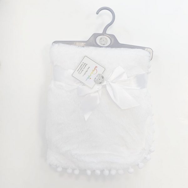 Baby Fleece Blanket comes wrapped with bow in the middle and includes attached cute little pom poms on the trims. Super soft fleece fabric to help keep your precious baby warm and comfortable. Perfect little gift for newborn baby.Please note the ribbon around the blanket is for decoration. It is not attached to the actually blanket. Material: 100% Polyester Machine Wash Sizes approx 75cm x 100cm Blue BSS1906 Pink BSS1907 Made in soft pastel colours and is suitable for the pram, to lie on and more.. Shop today baby girls blankets or baby boys blankets online at bumpalumpa.com. Make sure your little one's pram looks extra stylish with one of our baby blankets today. If you have a question, please do not hesitate to contact us on sales@bumpalumpa.com. We are always happy to help. Please see links above to browse more of our baby blankets.