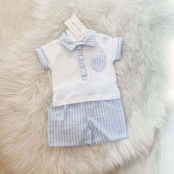 Baby Boys Blue Top & Shorts by Bluesbaby