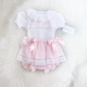 Baby Girls Pink Bow Outfit