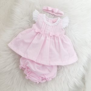 Baby Girls Pink Three Piece Dress