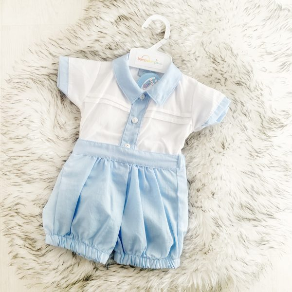 Baby Boys Blue Shorts Set