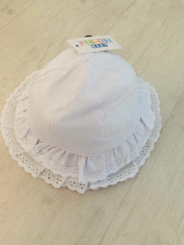 Baby Girls White Sun Hat