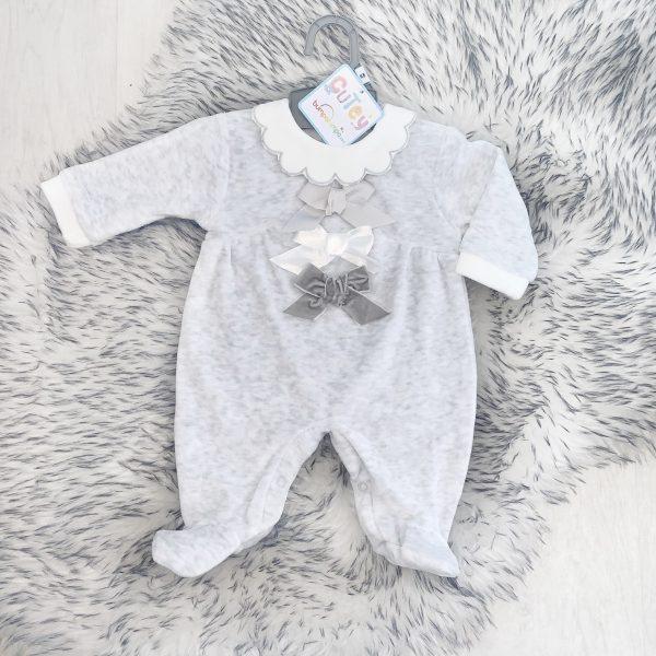 Unisex Grey Babygrow