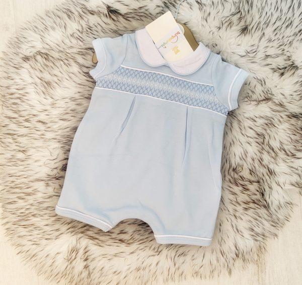 Baby Boys Blue Shorts Romper Suit