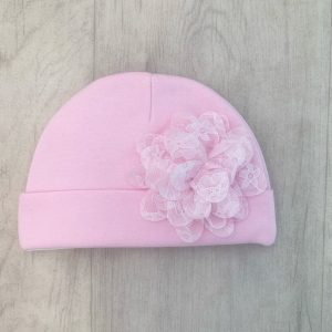 Baby Girls Pink Lace Hat
