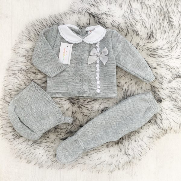 Grey Unisex Three Piece Outfit