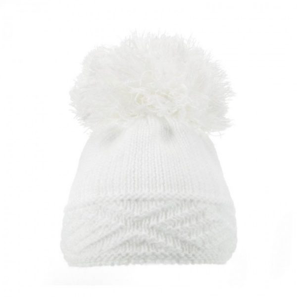 White Diamond Hem Hat
