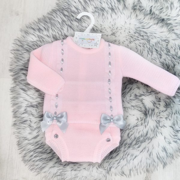 Baby Girls Pink Grey Outfit