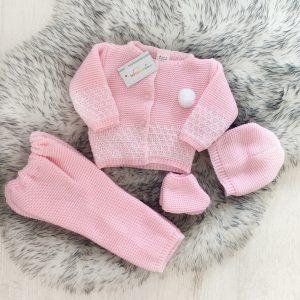 Baby Girls Pink Four Piece Set