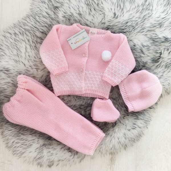 Baby Girls Pink Four Piece Set