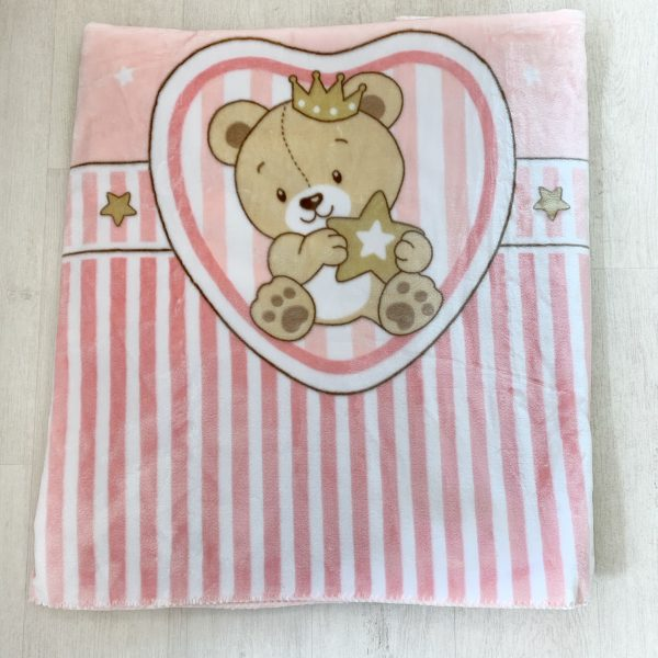 Baby Girls Fleece Heart Blanket