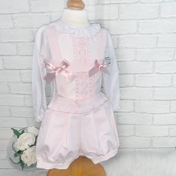 Baby Girls Pink Bloomer Shorts Set