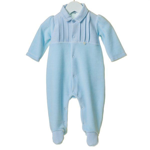 Bluesbaby Blue Fleece Babygrow