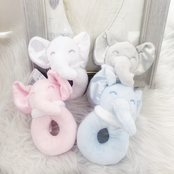 Elephant Rattle with Silk Ears