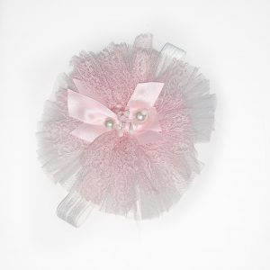 Baby Girls Pink Lace Head Piece