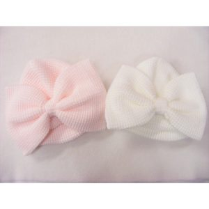 Baby Girls Knitted Bow Hat