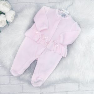 Baby Girl Pink Fleece Baby Grow