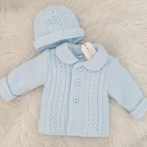 Baby Boys Blue Cardigan Set