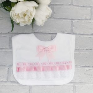 Baby Girls Bow Bib
