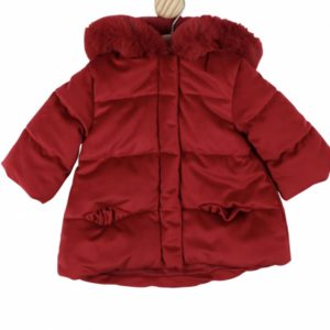 Baby Girls Red Padded Coat