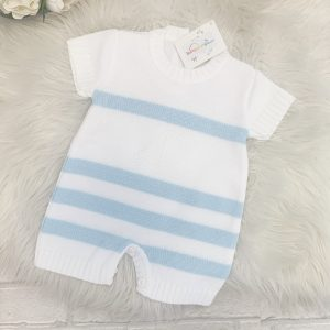 BABY BLUE KNITTED ROMPER SUIT