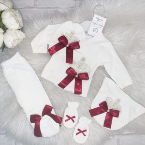 Baby Girls Ivory Crown Five Piece Set