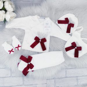 Baby Girls Five Piece Set with Bows