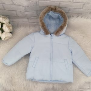 Toddlers Blue Padded Coat