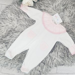 Baby Girls Frill Collar Babygrow