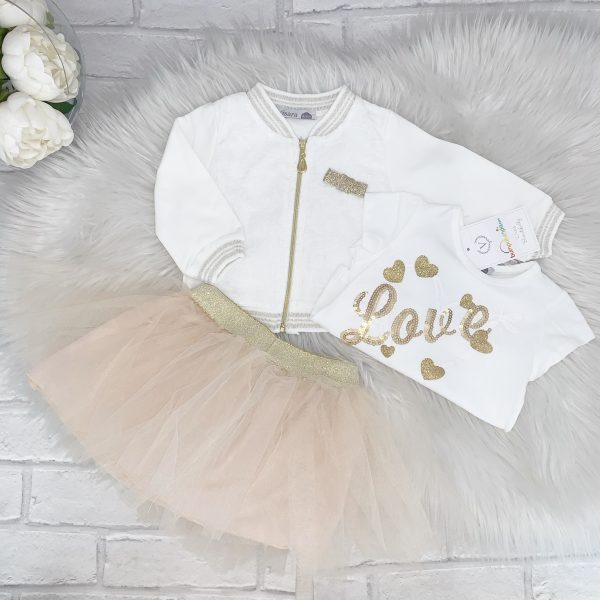 Baby Girls Beige Tutu Outfit