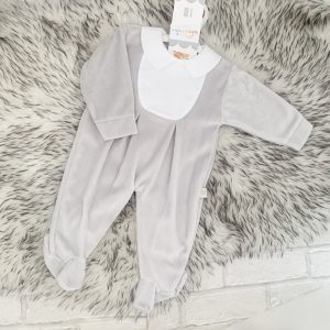 Unisex Grey Fleece babygrow