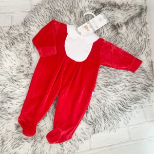 Unisex Red Babygrow