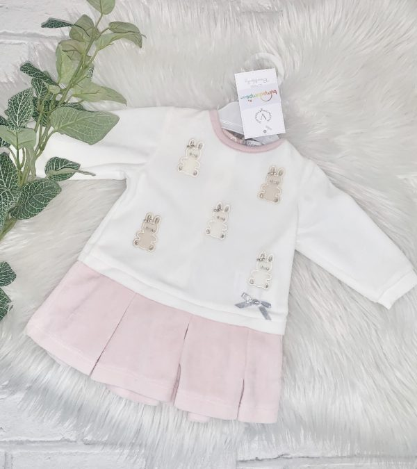 BABY GIRLS PINK UNICORN DRESS