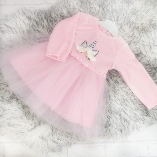 Baby Girls Pink Unicorn Dress