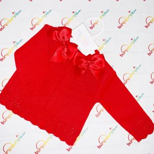 Baby Girls Red Cardigan