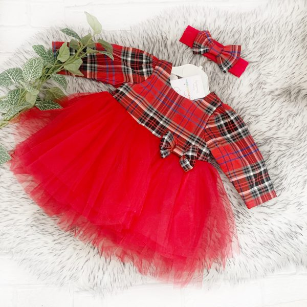 Baby Girls Tartan Dress with Tutu