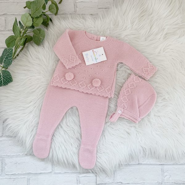 Baby Girls Dusty Pink 3 Piece Set