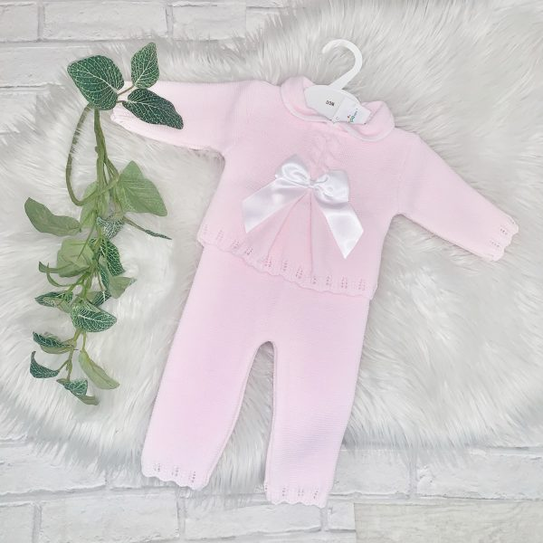 Baby Girls Pink Jumper & Trousers