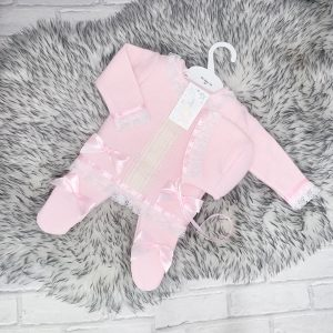BABY GIRLS PINK JACKET & TROUSERS