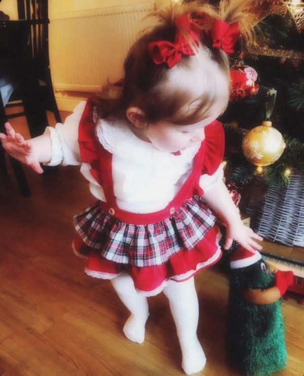 Baby Girls Blouse & Skirt Set