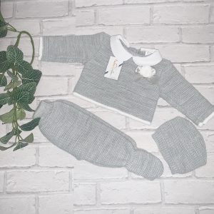 Unisex Grey Three Piece Set