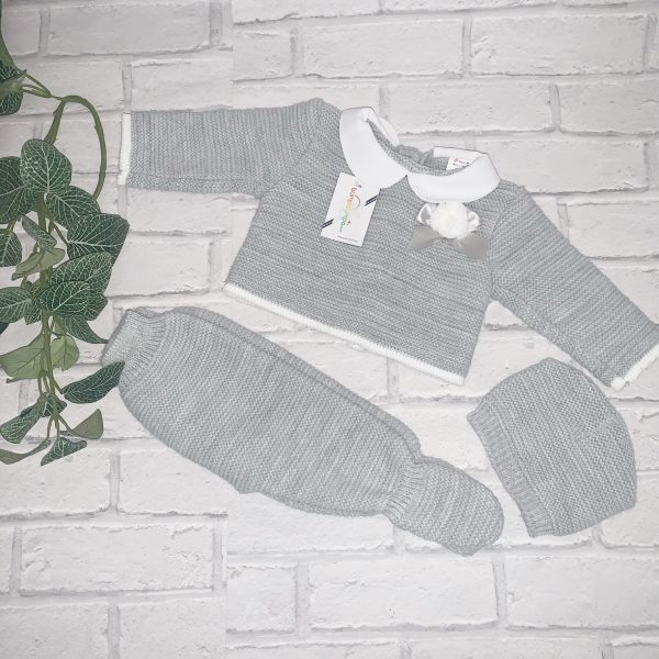 Unisex Grey Three Piece Set