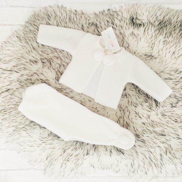 Unisex Baby Cardigan & Trouser Set