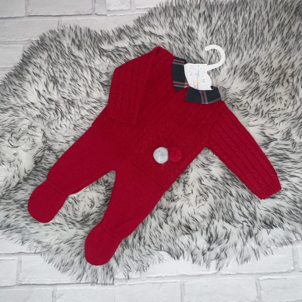 Baby Boys Red Jumper & Trousers Set