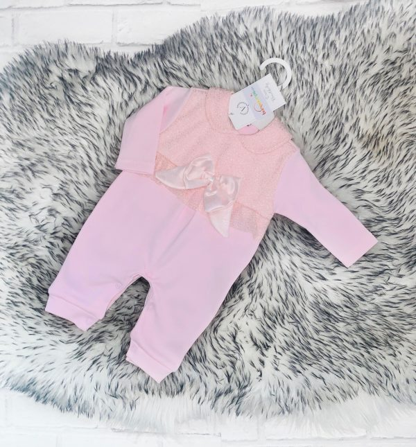 Baby Girls Pink Sparkle Babygrow