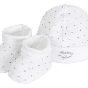 Unisex Newborn Hat & Bootees Set