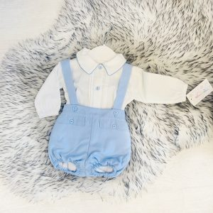 Baby Boys Traditional Dungaree Shorts Set