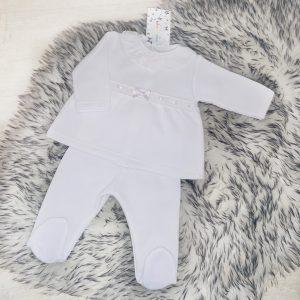 Unisex White Top & Trouser Set