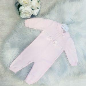 BABY GIRLS PALE PINK ONESIE & HAT