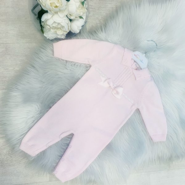 BABY GIRLS PALE PINK ONESIE & HAT